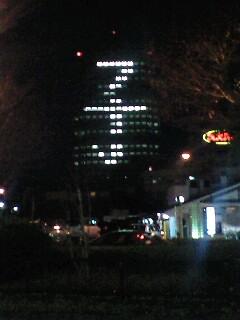 ビルの窓灯り