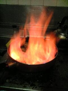 燃え上がった!