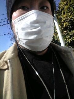 暖かいけどマスク