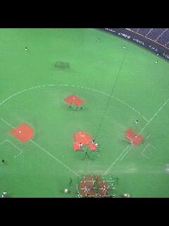 久々の野球場
