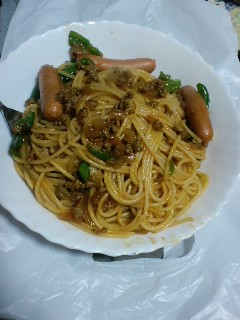 スパゲティの食感が