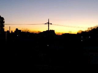 6:24の朝焼け