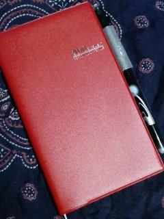 新しい手帳とボールペン