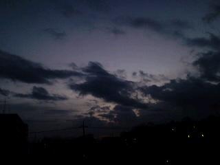 30日の朝日