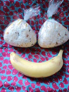 朝バナナとお弁当