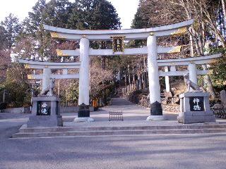 なんだか豪華な鳥居です、三峯神社!