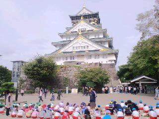 大阪城、観光客