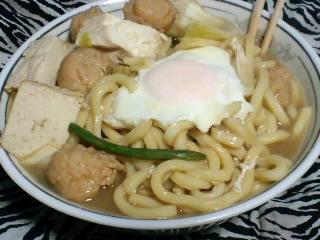 豆腐と鶏肉団子のうどん
