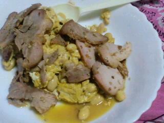 豆と卵と焼き豚