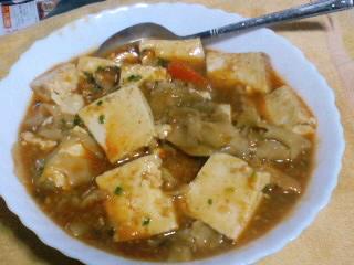 豆腐のカレー風煮込み